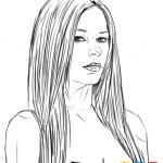 How to Draw Avril Lavigne, Famous Singers