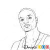 How to Draw Akon, Famous Singers
