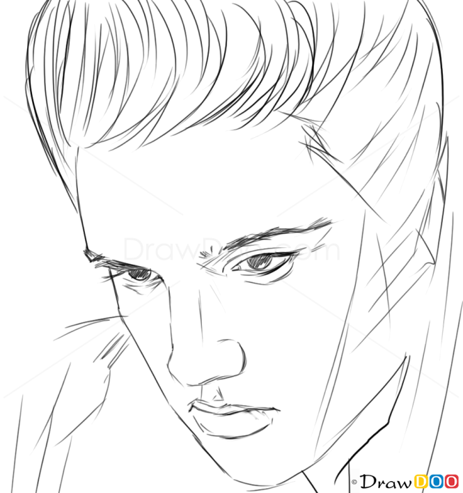 How to Draw Elvis Presley, Famous Singers