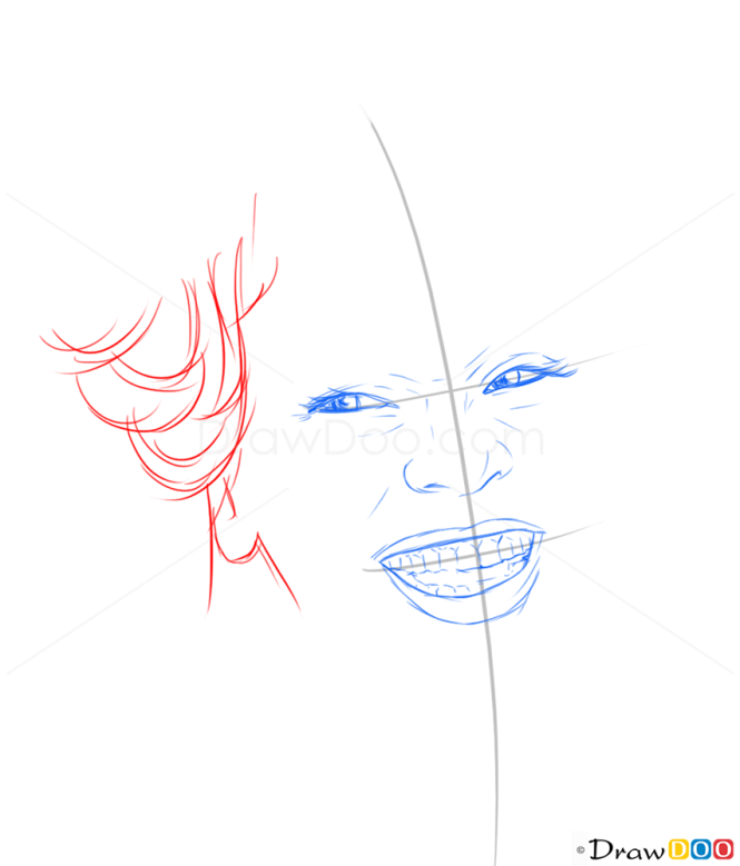 How to Draw Whitney Houston, Famous Singers