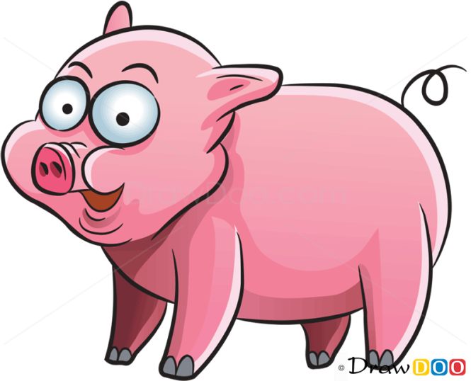 How To Draw Little Pig Farm Animals