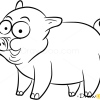 How to Draw Little Pig, Farm Animals