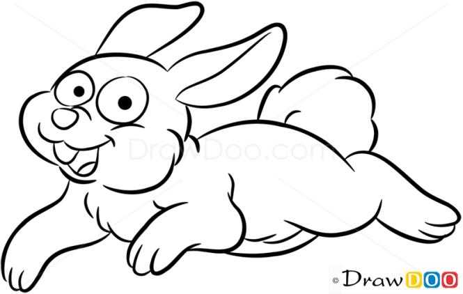 How to Draw Happy Rabbit, Farm Animals
