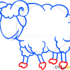 How to Draw Baa-Lamb, Farm Animals