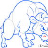 How to Draw Angry Bull, Farm Animals