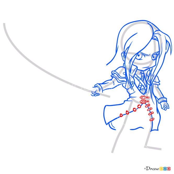 How to Draw Sephiroth Chibi, Final Fantasy