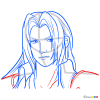 How to Draw Sephiroth Portrait, Final Fantasy