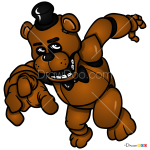 How to Draw Freddy Fazbear, Five Nights at Freddy?s