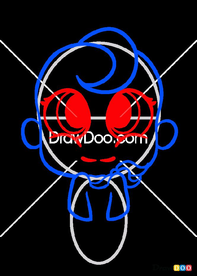 How to Draw Flapjack Chibi, Flapjack