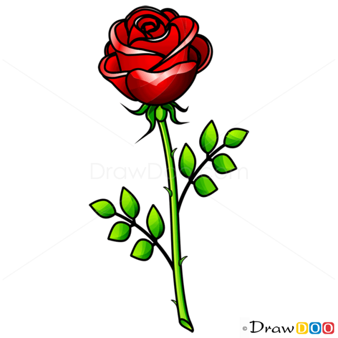 How to draw rose easy flowers ccuart Image collections
