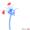 How to Draw Blowball, Flowers