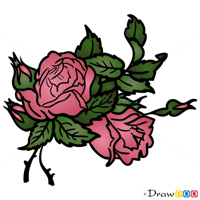 How to Draw Rose, Flowers