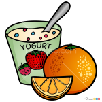 How to Draw Yogurt, Food