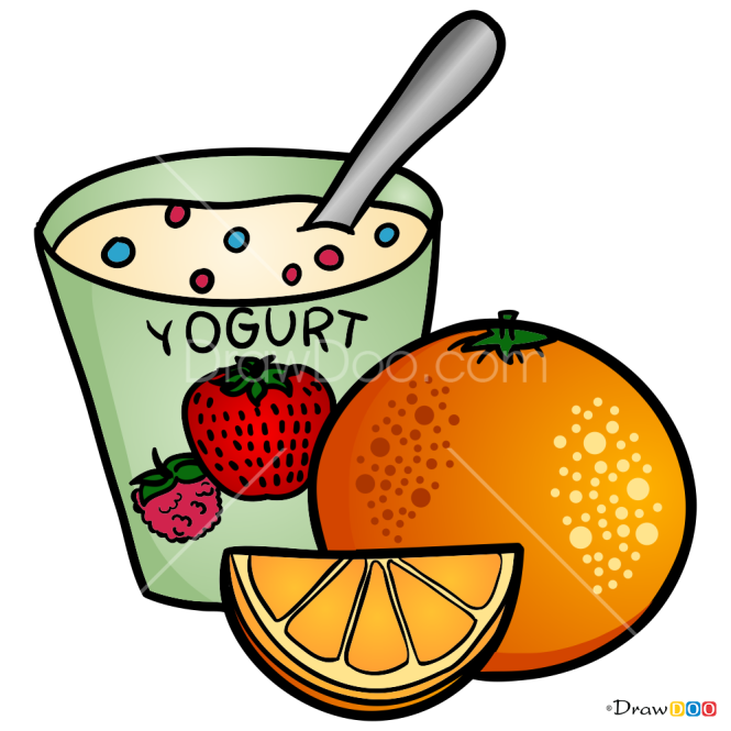 How to Draw Yogurt, Food