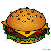 How to Draw Burger, Food