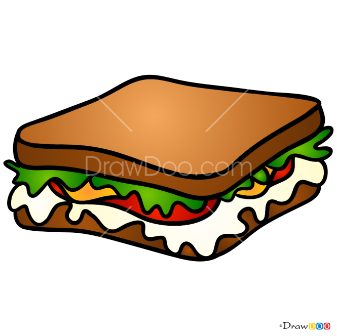 How to Draw Sandwitch, Food
