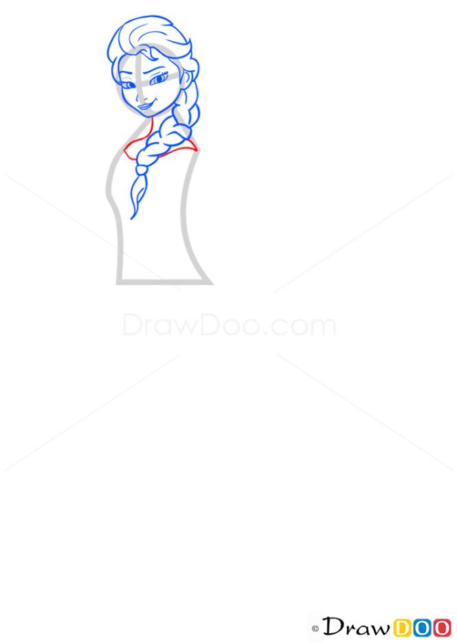 How to Draw Elsa, Frozen