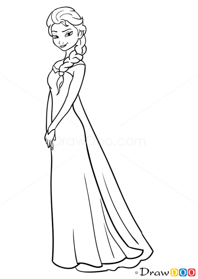 How to draw elsa frozen voltagebd Image collections