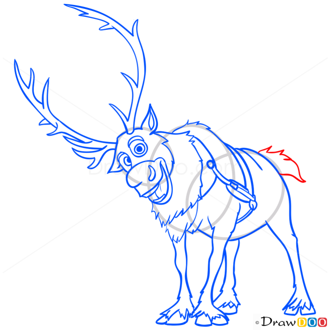 How to Draw Sven, Frozen