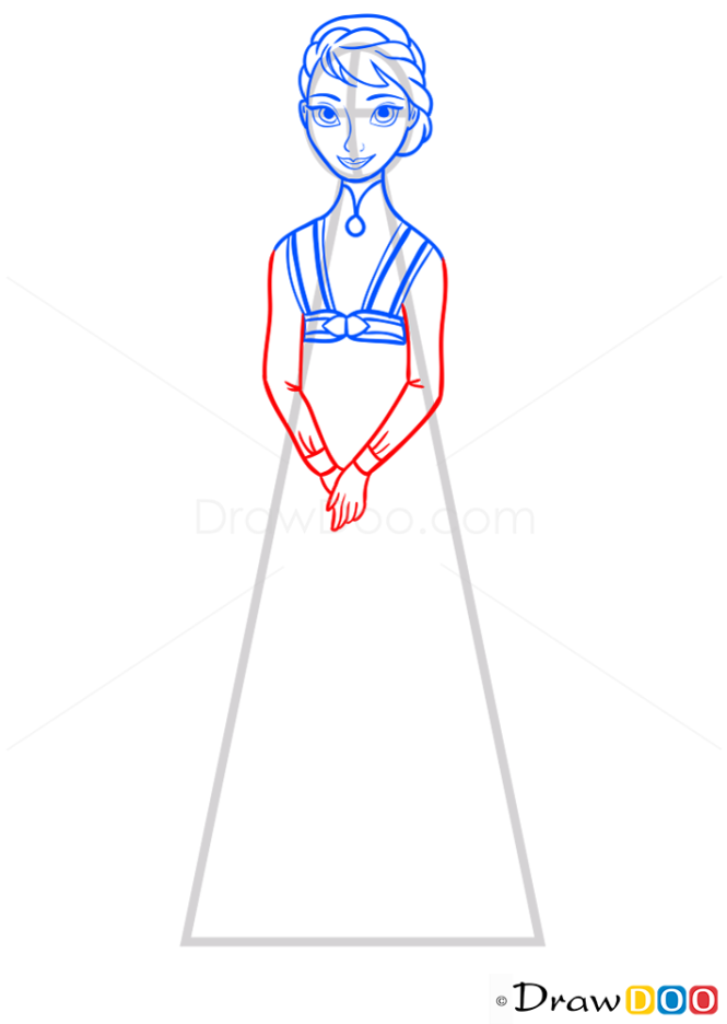 How to Draw Queen of Arendelle, Frozen