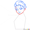 How to Draw Snow Queen Elsa, Frozen