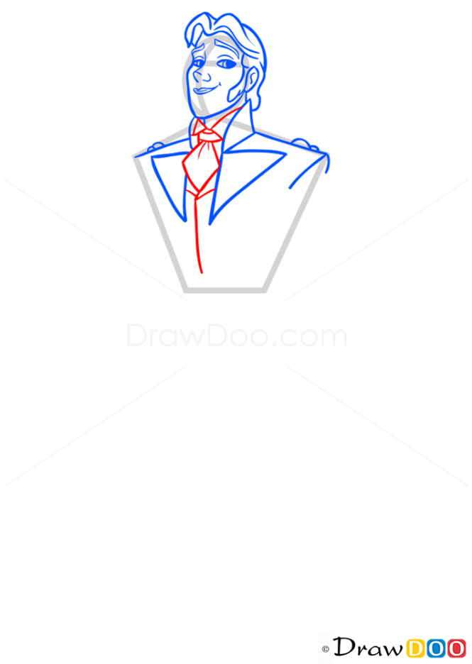 How to Draw Hans, Frozen