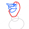 How to Draw Happy Olaf, Frozen