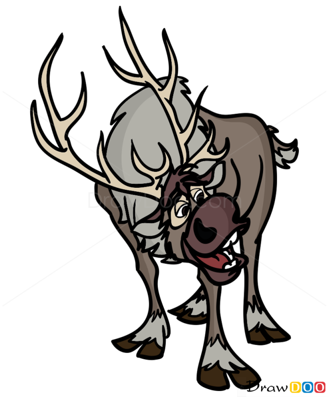 How to Draw Cute Sven, Frozen