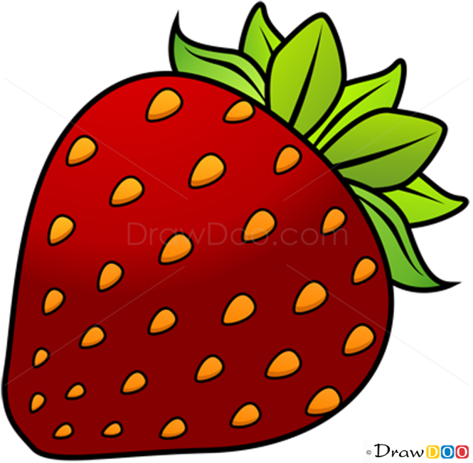 how to draw strawberry fruits