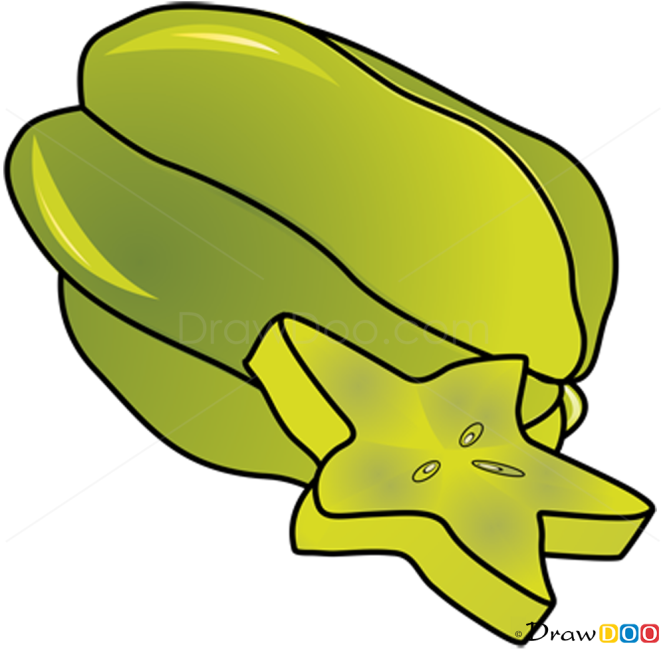 How to Draw Carambola, Fruits