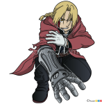 How to Draw Edward, Fullmetal Alchemist