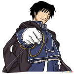How to Draw Roy Mustang, Fullmetal Alchemist