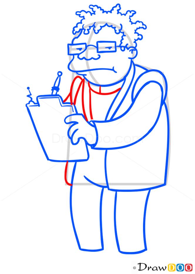 How to Draw Hermes Conrad, Futurama