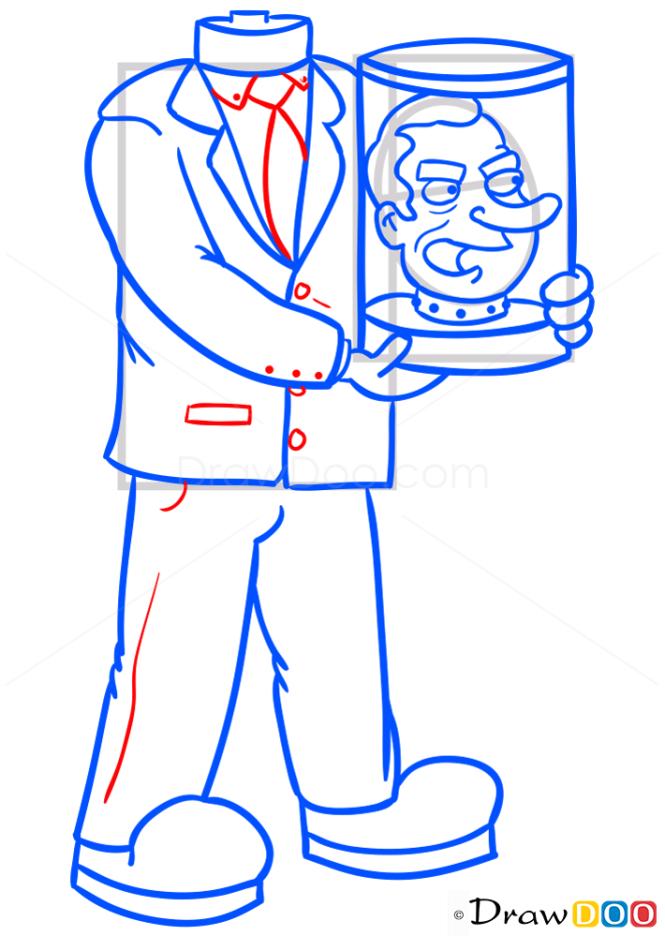 How to Draw Nixons Head, Futurama