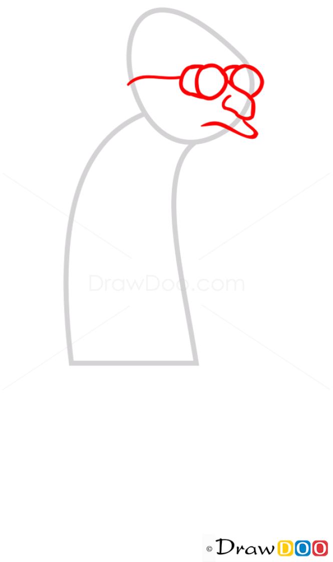 How to Draw Professor Hubert, Futurama