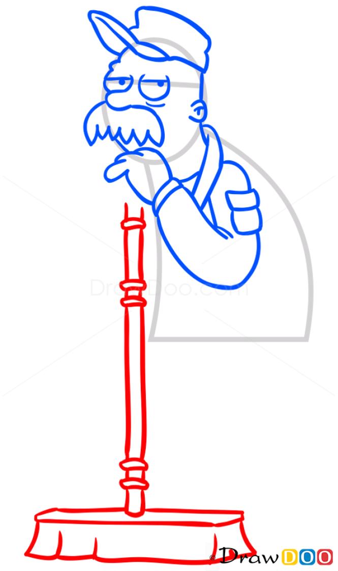 How to Draw Scruffy the Janitor, Futurama