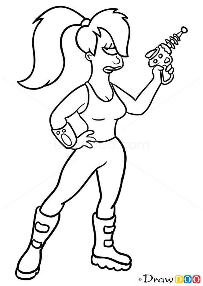 How to Draw Turanga Leela, Futurama