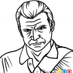 How to Draw Michael Easy, GTA