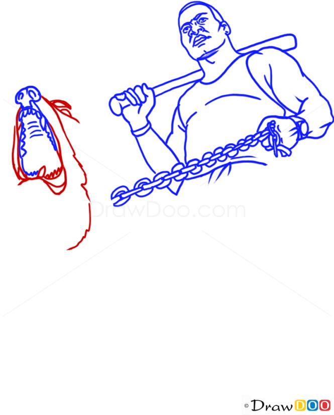 How to Draw Franklin, With Dog, GTA