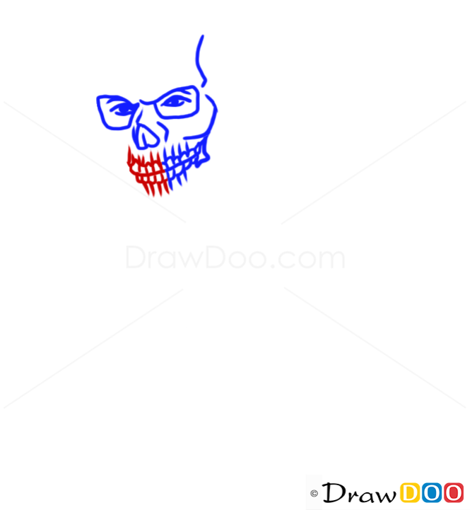 How to Draw Franklin in, Skull Mask, GTA