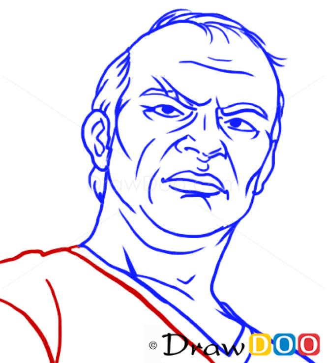How to Draw Trevor Easy, GTA