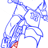 How to Draw Trevor, on Motorcycle, GTA