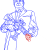 How to Draw Trevor, on ATV, GTA