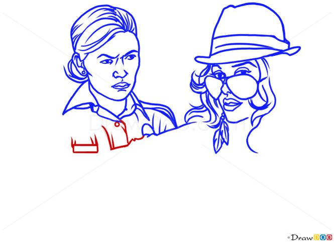 How to Draw Vasquez, Arresting a Woman, GTA