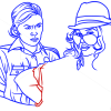 How to Draw Vasquez, Arresting a Woman, GTA