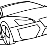 How to Draw Audi R8, Spyder, GTA