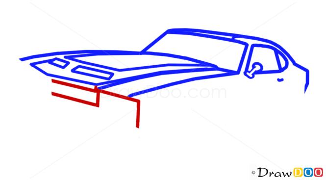 How to Draw Chevrolet, Camaro, GTA