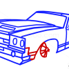 How to Draw Chevrolet, Camaro, GTA