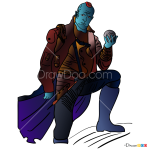How to Draw Yondu, Galaxy Guardians