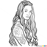 How to Draw Cersei Lannister, Game Of Thrones